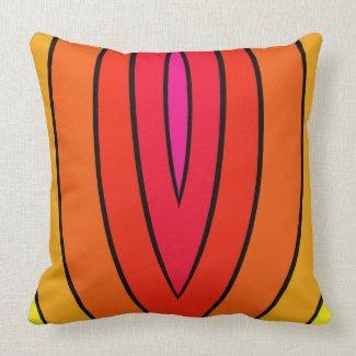 Rainbow Pop Art Decor Brights Fun CricketDiane Throw Pillow