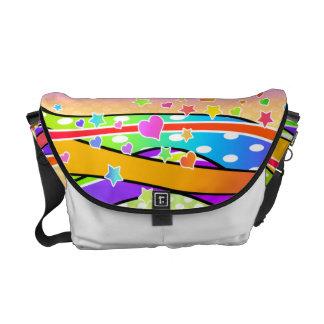 RAINBOW POP ART MESSENGER BAG