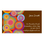 Rainbow Pop Circles Colorful Retro Fun Groovy Chic Business Card Template