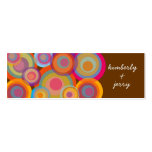 Rainbow Pop Circles Fun Groovy Thank You Gift Tag Business Cards