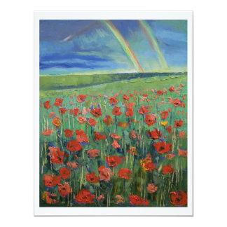 Rainbow Poppies Card