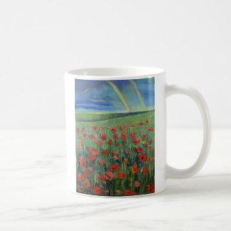 Rainbow Poppies Coffee Mug