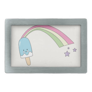 Rainbow Popsicle Belt Buckle