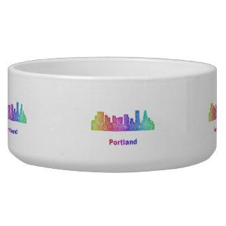 Rainbow Portland skyline Bowl