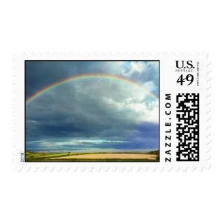 Rainbow Postage Stamp