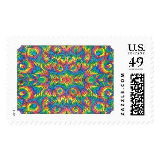 Rainbow postage stamps