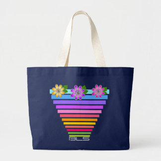 Rainbow Pot of Flowers (Monogrammed) Bags