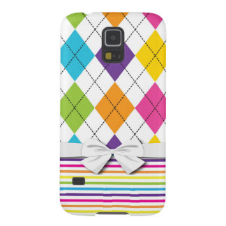 rainbow preppy argyle pattern case for galaxy s5