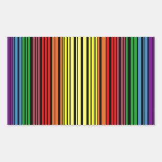 Rainbow pride bar code rectangular sticker