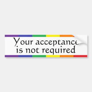 Rainbow Pride Bumper Sticker