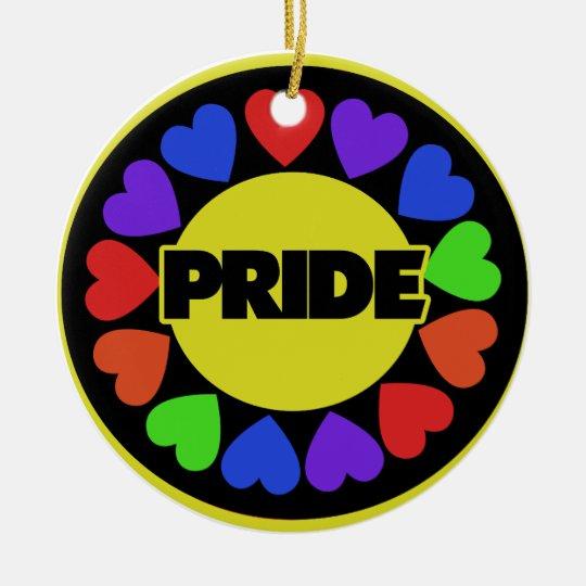Rainbow Pride Ceramic Ornament