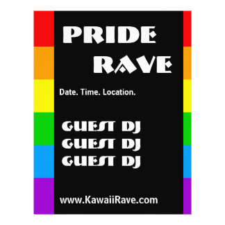 Rainbow Pride Custom Rave Flyers