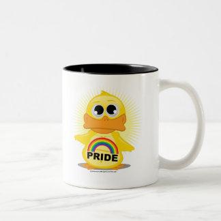 Rainbow Pride Duck Two-Tone Coffee Mug