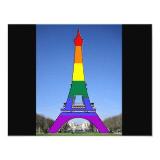 Rainbow Pride Eiffel Tower Card