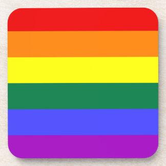 Rainbow Pride Flag Cork Coaster