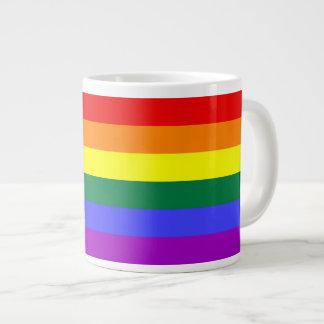 Rainbow Pride Flag Jumbo Mug 20 Oz Large Ceramic Coffee Mug