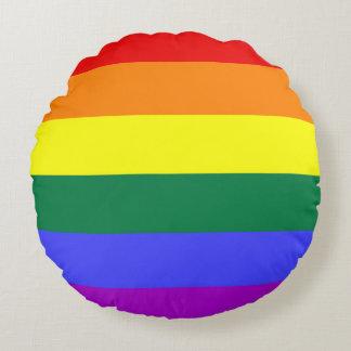 Rainbow Pride Flag Round Pillow