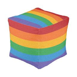 Rainbow Pride Flag Pouf