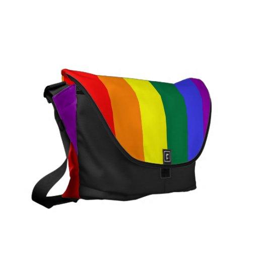 Rainbow Pride Flag Rickshaw Messenger Bag