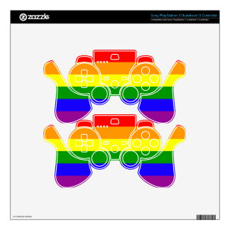 Rainbow pride flag PS3 controller skins