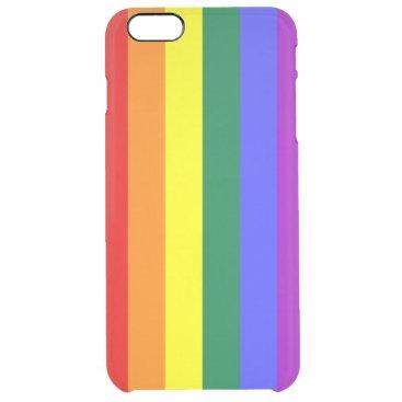 Rainbow Pride Flag Clear iPhone 6 Plus Case