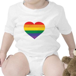 Rainbow pride heart bodysuit