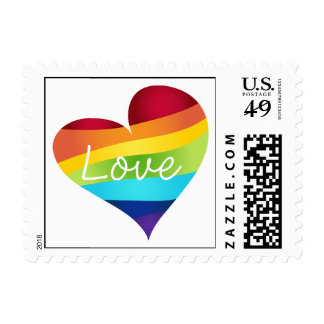 Rainbow Pride Hearts - Your Choice Love or Pride Postage