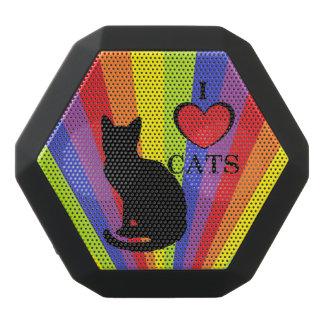 "Rainbow Pride ""I Love Cats""  Boombot REX, Black Black Bluetooth Speaker"