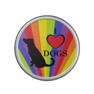 "Rainbow Pride ""I Love Dogs"" Bumpster Speaker"