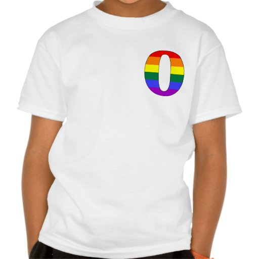Rainbow Pride Initial O T-shirt