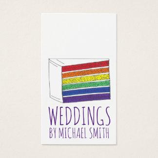 Rainbow Pride LGBT Cake Wedding Planner Bakery Business Card
