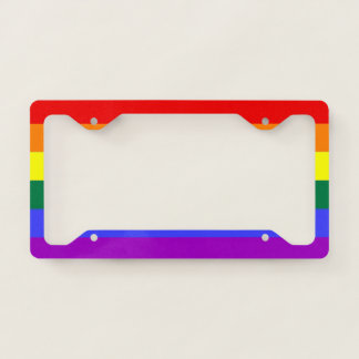 Rainbow Pride LGBT Themed Colorful Fun License Plate Frame
