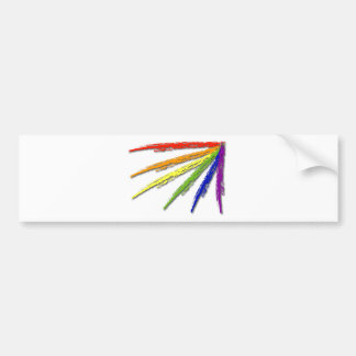 Rainbow Pride -(looks best oGrey or White Shirt) Bumper Sticker