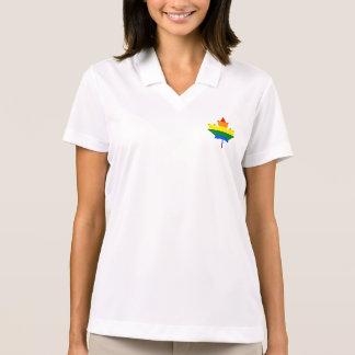 Rainbow pride maple leaf Polo Shirt Polo Shirt