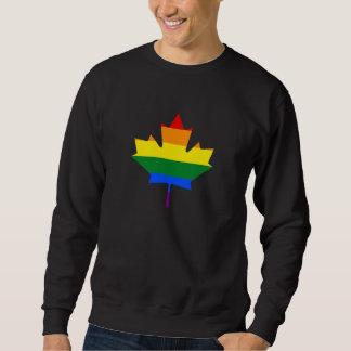 Rainbow pride maple leaf Sweatshirt