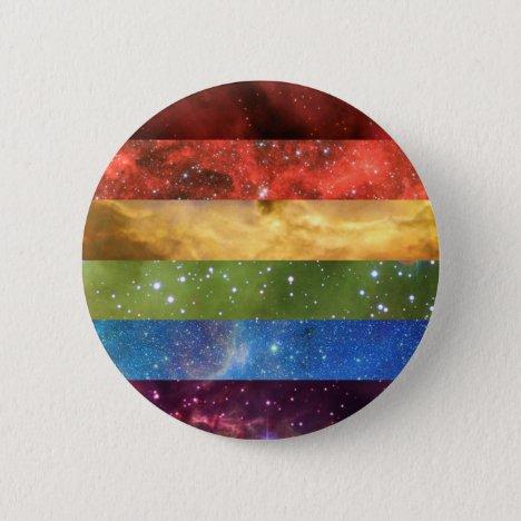 Rainbow pride nebula flag pin