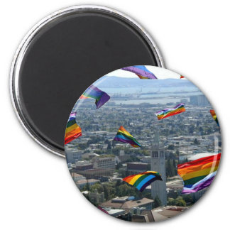 Rainbow Pride Over Berkeley Magnet