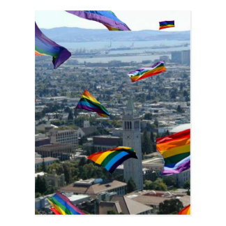 Rainbow Pride Over Berkeley Postcard