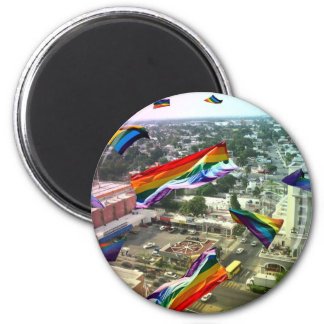 Rainbow Pride Over Santa Rosa Magnet