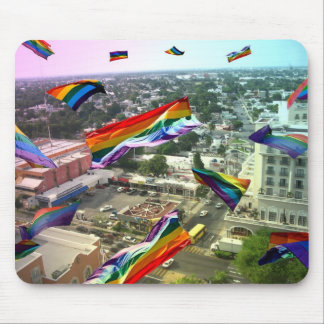 Rainbow Pride Over Santa Rosa Mouse Pad