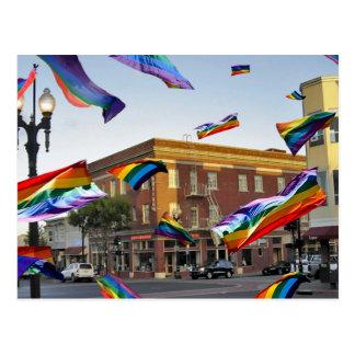 Rainbow Pride Over South San Francisco Postcard
