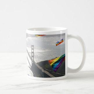 Rainbow Pride Over the Marin Headlands Coffee Mug
