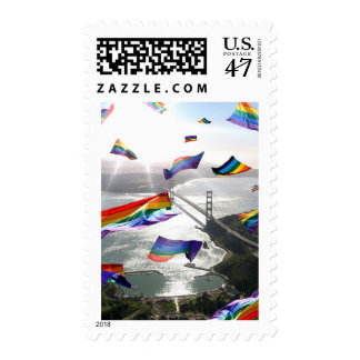 Rainbow Pride Over the Marin Headlands Postage