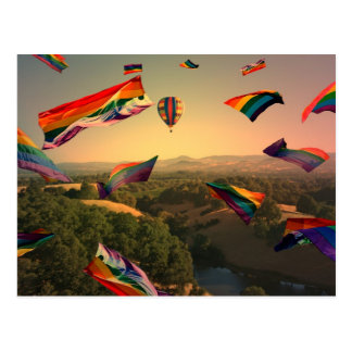Rainbow Pride Over the Sonoma Valley Postcard