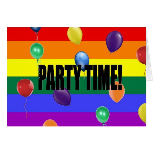Rainbow Pride Party Invitation Stationery Note Card