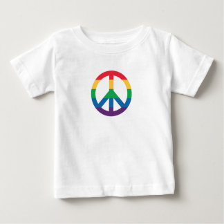 Rainbow Pride Peace Sign Baby T-Shirt