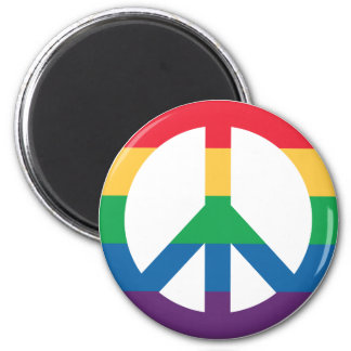 Rainbow Pride Peace Sign Fridge Magnet