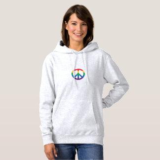 Rainbow Pride Peace Sign Hoodie