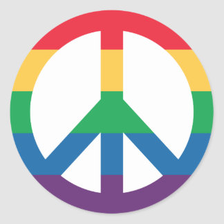 Rainbow Pride Peace Sign Sticker Sheet