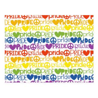 rainbow pride postcard